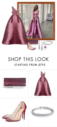 """""""Rebecca Judd – Paul Bram Diamonds Ad Campaign."""" by foreverforbiddenromancefashion ❤ liked on Polyvore featuring Jimmy Choo, Alex Perry, Christian Louboutin and Graff"""