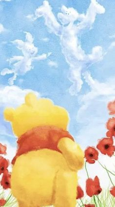Wall Paper Iphone Disney Winnie The Pooh Friends 46 Ideas Winnie The Pooh Drawing, Cute Winnie The Pooh, Winne The Pooh, Winnie The Pooh Quotes, Winnie The Pooh Friends, Disney Phone Wallpaper, Bear Wallpaper, Bear Pictures, Disney Fan Art