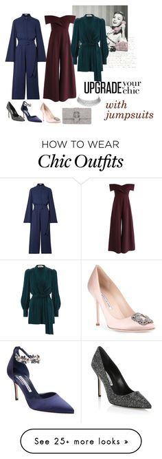 """""""jumpsuit"""" by meryembts on Polyvore featuring Manolo Blahnik, Michael Kors, Chicwish and Zimmermann Manolo Blahnik, Chic Outfits, Jumpsuit, Michael Kors, Shoe Bag, Polyvore, Stuff To Buy, Shopping, Shoes"""