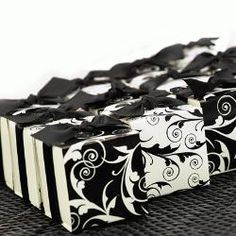 Black & White Favor Boxes