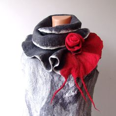 Felted Scarf by Galina