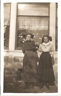 Charming ANTIQUE PHOTO of Victorian Sisters in by vintagewarehouse, $3.50