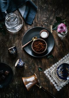 Step-by-step photos of How to make Turkish Coffee.
