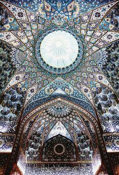 Ceiling inside the shrine of Imam Hussein in Karbala, Iraq