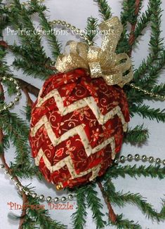No Sew Quilted Pinecone Ornament Kit