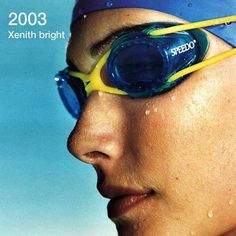 2003: Launch of Speedo Xenith bright – what do you think of these straps? #ThrowbackThursday #Speedo #Goggles #Innovation #Swimming