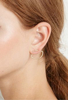 Matte Geo Ear Jackets | 24 Ear Jackets That Will Take Your Piercings To The Next Level
