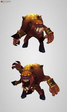 #lowpoly Demon Living Bomb, this one catches fire!