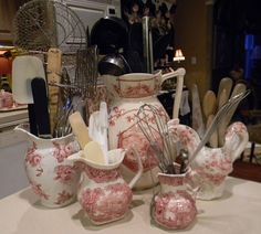 Broken China ideas | Nancy's Daily Dish: Pretty Ways to Store Cooking Utensils (yes, using ...
