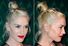 Gwen Stefani - top knot hair lol i've worn my hair like this alot lately! This is why!