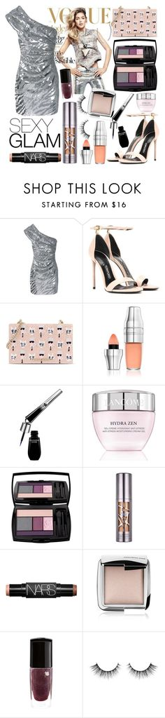 """""""Silver Siren"""" by riverinthedesert ❤ liked on Polyvore featuring beauty, Yves Saint Laurent, Tom Ford, Karl Lagerfeld, Lancôme, Urban Decay, NARS Cosmetics and Hourglass Cosmetics"""