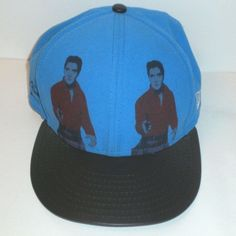 8db2920f1ac Details about Andy Warhol Double Elvis Presley Art Hat New Ear Cap  Strapback Small Medium RARE
