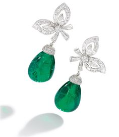 Emerald and diamond earrings - Sotheby's