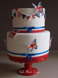British theme cake