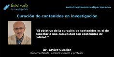 Charla con Javier Guallar sobre curación de contenidos en investigación. #ContentCuration Marketing Digital, Socialism, Small Talk, Professor, Interview, Science, Social Networks