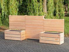 Pflanzkasten mit Sichtschutz, als Abgrenzung für Terrasse, Balkon uvm.. In verschiedenen Größen und Farben erhältlich.