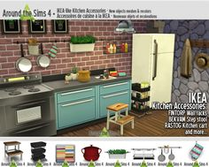 IKEA-like Kitchen Accessories at Around the Sims 4 via Sims 4 Updates
