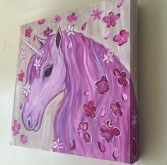 A personal favorite from my Etsy shop https://www.etsy.com/ca/listing/268083820/ooak-unicorn-flower-painting-on-canvas