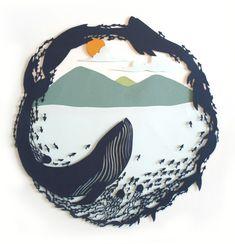 blue whale papercut - Google Search