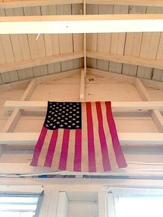 American flag white rafters