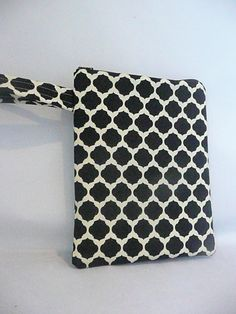 eReader Wristlet  Black and White by KathrynBrookeDesign on Etsy, $15.00