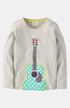 Free shipping and returns on Mini Boden 'Rock 'n' Roll' Tee (Little Girls & Big Girls) at Nordstrom.com. A rockin' appliqué relaxes a long-sleeve tee, garment-washed for extra softness.