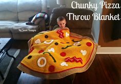 Free Crochet Pattern: Chunky Pizza Throw Blanket