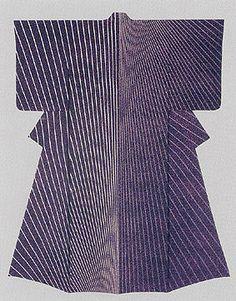 "Kimono of yuuzen dyework.""Daybreak."" MORIGUCHI Kunihiko"