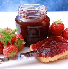 Simple Strawberry Homemade Jam, Jen and I will totally can some of this at the canning/wine night!!!