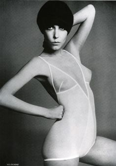 "Peggy Moffitt: ""All-In-None"" #1960s #vintage #lingerie"