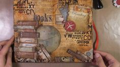 Art Journal Page : Reading / great idea for making a stack of books.