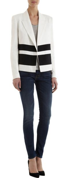 Laveer Striped Montage Jacket at Barneys.com