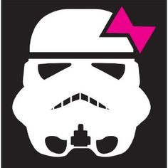 Storm Trooper Girl Sticker Decal. White and Pink  by Booki Graphics  $4.95