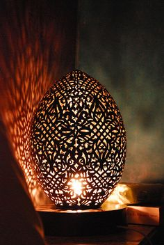 Amazing lantern casts patterns on the wall. Riad Amiris, Marrakech -- By wanderer_by_trade