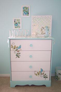 My repurposed shabby chic dresser