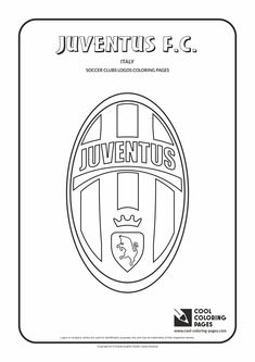 cool coloring pages soccer clubs logos juventus fc logo coloring page with juventus
