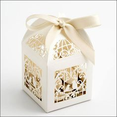 Filigree Laser Cut Wedding Favour Boxes by WeddingParaphernalia