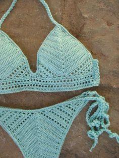 Exceptional Stitches Make a Crochet Hat Ideas. Extraordinary Stitches Make a Crochet Hat Ideas. Crochet Lingerie, Bikinis Crochet, Crochet Bra, Crochet Bikini Pattern, Crochet Bikini Top, Crochet Collar, Crochet Clothes, Crochet Gratis, Sexy Bikini