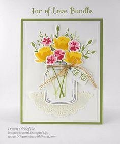 Jar of Love Bundle card created by Dawn Olchefske for DOstamperSTARS Thursday Challenge #DSC189 #dostamping #stampinup