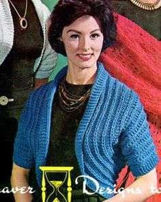 Simple Shrug Pattern. Classic vintage. Stylish and simple to knit with minimal shaping. Free pattern.