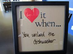Cute sign for the kitchen... or bedroom. ;-)