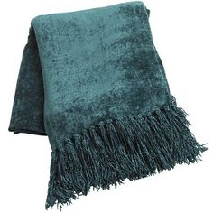 Shaded Spruce Chenille Throw - yes this is on my couch with other turquoise and the pink chenille on the other couch