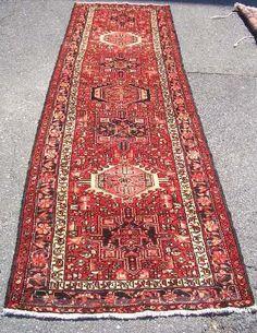 Persian Rug - 1980s Hand-Knotted Karaja Persian Rug Runner (3133) by carpetshopprincess on Etsy