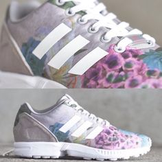 The adidas ZX Flux just put on its best Easter outfit with this new edition for the ladies featuring a lovely floral upper. The soft pastel tones of the various flowers pictured are accompanied by a suede heel counter (usually plastic) for an extra premium touch. The stripes, laces, and sole units all come in bright white to keep these nice and light for a perfect springtime look. Size 6, but fits like a 7 to 7.5 womens.