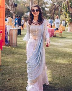 Designer dresses indian - The Prettiest Pastel Colour Combos We Spotted in Lehengas! Indian Gowns Dresses, Indian Fashion Dresses, Dress Indian Style, Indian Designer Outfits, Designer Dresses, Indian Wedding Outfits, Indian Outfits, Bridal Outfits, Stylish Sarees