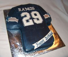 Dallas Cowboys Jersey Cake