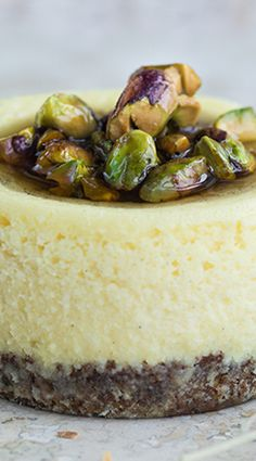 Petite Pistachio and Vanilla Bean Cheesecake