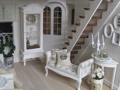 White Washed Modern Style {Stairs}
