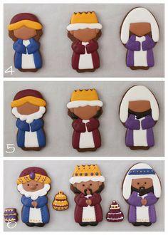 3 Wise Men, Christmas Cookies ~ 3 Reyes Magos, Galletas Navideñas.