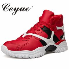 1caeb0f3b09 Ceyue High Top Basketball Shoes Men Sneakers Height Increasing Lightweight Lace  Up Trainers Outdoor Sport Shoes Homme Chaussure.